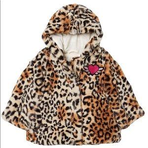 Steve Madden plush leopard jacket